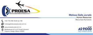 Bolsa de trabajo Producción y Especialidades en Aluminio SA de CV
